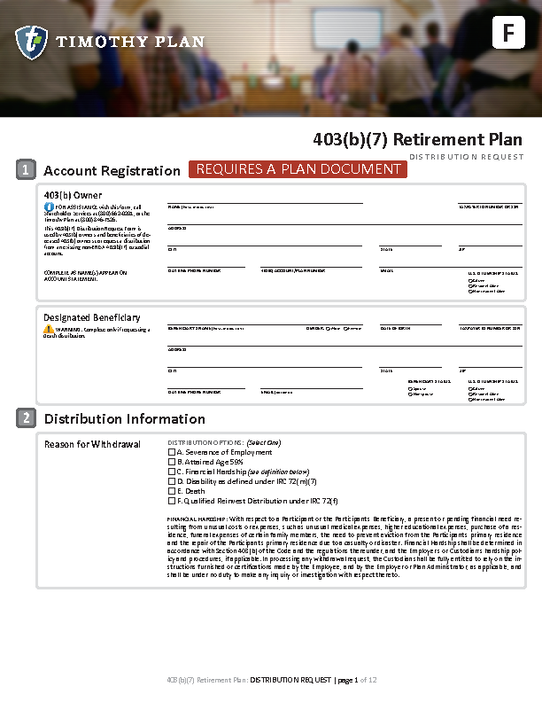 Timothy Plan Applications For Investing